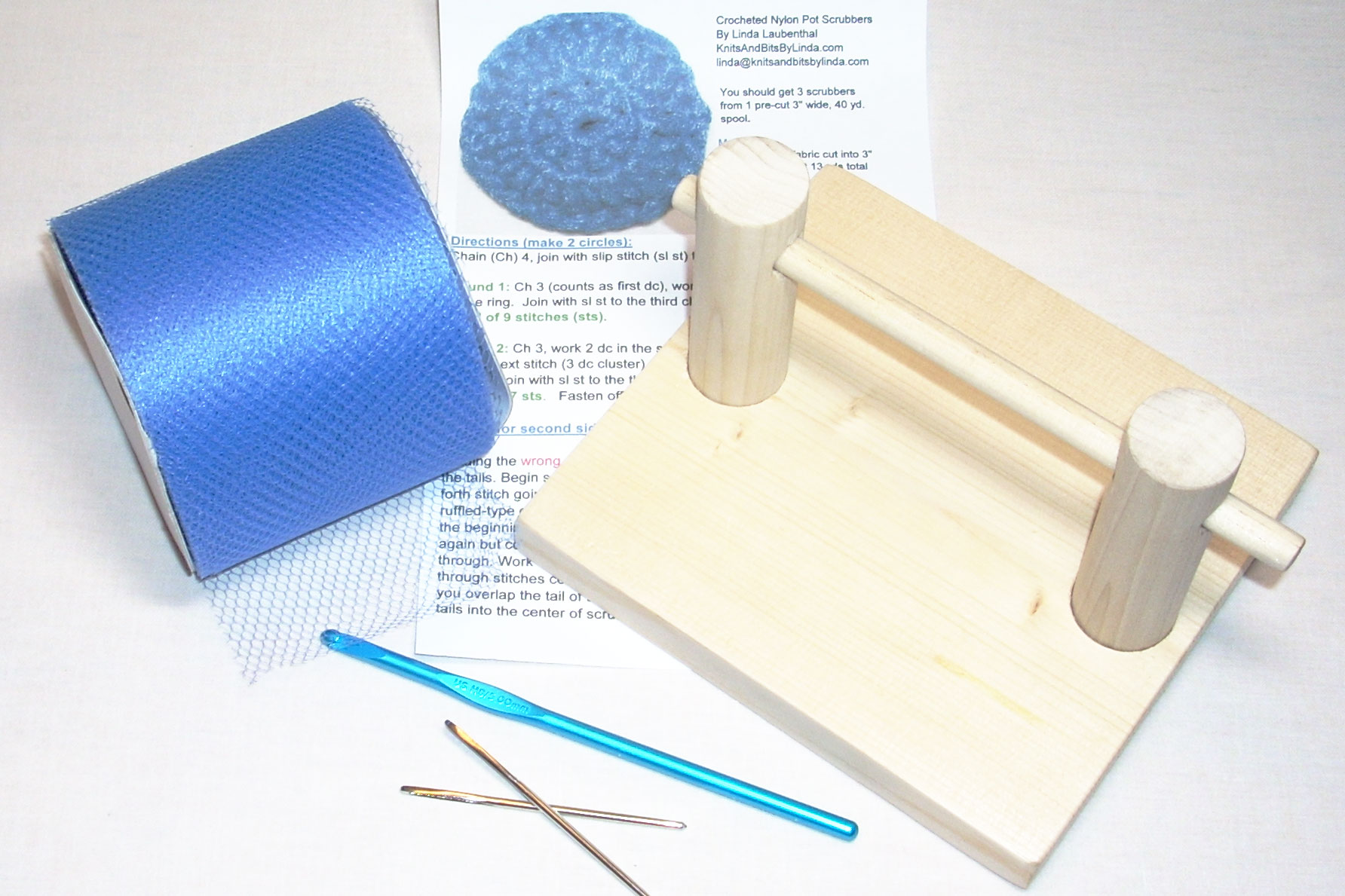 Crochet Pot Scrubber Kit The Tulle Shed